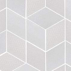 Patchwork White Textured | Skheme #skheme #tiles #rhombus #geometric