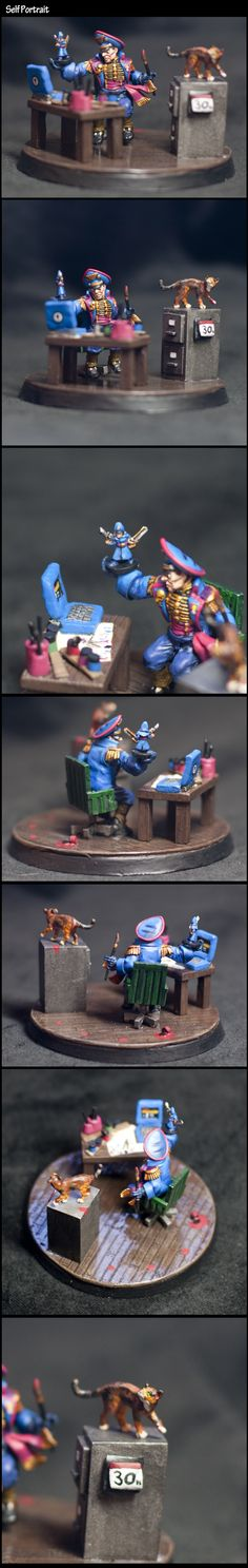 Cat, Commissar, Conversion, Diorama, Gaming, Humour, Modeling, Painting