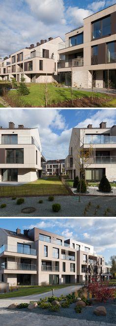 Apartamenty Oliwski Park - piękna elewacja budynków mieszkalnych, do realizacji której wykorzystano materiał EQUITONE [tectiva].  Fot. Tomasz Zakrzewski