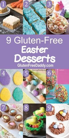 I have 9 of the best gluten-free Easter dessert recipes you can use for your oste . - I have 9 of the best gluten-free Easter dessert recipes you can prepare for your Easter celebration - Best Gluten Free Desserts, Allergy Free Recipes, Gluten Free Treats, Easter Recipes Gluten Free, Gf Recipes, Candy Recipes, Healthy Recipes, Easter Deserts, Easter Treats