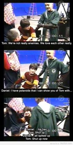 So funny seeing them as normal kids messing with each other :)