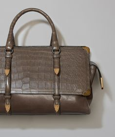 9643673cb9f  Bottega Veneta® - MONACO BAG IN STEEL NEW GOAT AND STEEL FUMÉ CROCODILE ‎
