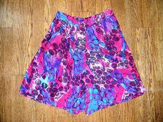 Vintage High Waisted Shorts - Vintage 80s/90s Purple/Hot Pink/Turquoise/Bubblegum Pink Shorts - High Waist Bermuda Style Shorts - Large L. $10.00, via Etsy.