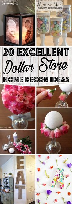 Check it out You won't believe, but these 5 DIY dollar store home decor ideas are simply fantastic. Make your inexpensive items and see how people will line up at your doors to just take a sneak-peak ..
