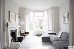white & grey interior living room design ... Beautiful !