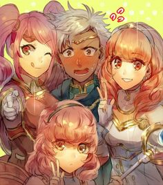 "Boey: ""Why am I the only guy in our party right now?! I can't deal with all this female madness!"" Mae: ""Uh, excuse me? I thought that this was the sort of thing that guys dream of. You know... Going on adventures? Surrounding themselves with women?"" Boey: ""Hey, come on, I'm not that shallow! Besides, I know all the downsides that come with a big group of girls!"" Mae: ""Oh reaaaally? Like what?"" Boey: ""For starters, say one thing wrong and a whole pack will go after you! Or... Or! Why in the…"