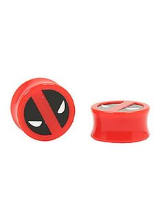 Plug in to Deadpool // Acrylic Marvel Deadpool Enamel Filled Plug 2-Pack