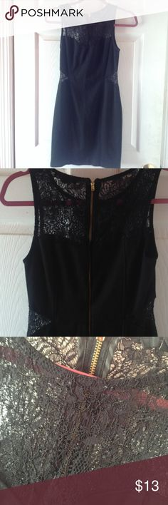 Lace Inset Mini Bodycon Dress Lace at sides of waist and the chest Forever 21 Dresses
