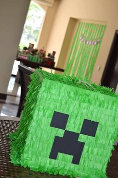 Creeper Pinata from a Minecraft Party via Kara's Party Ideas | KarasPartyIdeas.com (7)