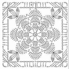 Transcendent Crochet a Solid Granny Square Ideas. Inconceivable Crochet a Solid Granny Square Ideas. Motif Mandala Crochet, Crochet Motif Patterns, Crochet Circles, Crochet Blocks, Crochet Chart, Filet Crochet, Crochet Stitches, Knit Crochet, Crochet Tops