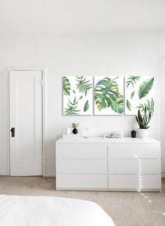 Tríptico hojas - Cuadro moderno decorativo Acrylic Art, Living Room, Bedroom, Wall, House, Lima, Painting, Anniversary, Home Decor