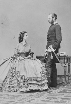 Archduke Charles (brother of the Emperor) and the Archduchess Annunziata (Princess of Naples), 1864. [Album: Photographs. Royal Portraits, vol.49]