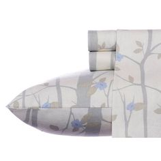 Refresh your guest room or master suite bed with this lovely cotton sheet set, showcasing a budding branch motif in ivory.  Product:...