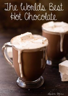 This recipe is the worlds best hot chocolate, I enjoy a cup of this every mornin. - Best Co. This recipe is the worlds best hot chocolate, I enjoy a cup of this every mornin. Homemade Hot Chocolate, Hot Chocolate Bars, Christmas Hot Chocolate, Hot Chocolate With Cocoa Powder, Best Hot Chocolate Recipes, Crock Pot Hot Chocolate Recipe, Healthy Hot Chocolate, Mexican Hot Chocolate, Hot Cocoa Mixes