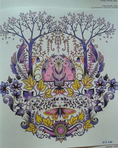 Rabbit Enchanted Forest Joanna BasfordColoring BookColouringColored