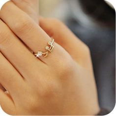 0860 diamond the note rings opening solid color thread adjustable ring shop at Costwe.com