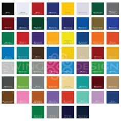 Oracal 651 Glossy Vinyl Sheets 12 Inch x 12 Inch - 61 Assorted Colors Available - Sale!