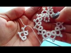 Frivolité art with Needle - Part 5.Var.das petals, .Explic arches . initials. - YouTube