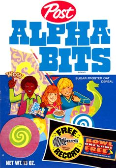 Alpha-bits cereal with Free Monkees record.