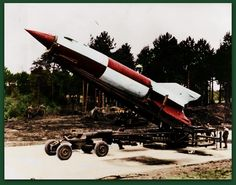 The German Aggregat-4 rocket is better known by the name V-2, short for Vergeltungswaffe (Retaliation Weapon) 2. Deployed in the last year of World War II, it was the world's first long-range ballistic missile and the first human-made object to travel into space. Photo Colourised by Pearse