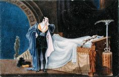The Atheist viewing the dead body of his Wife, by Charlotte Bronte (1816-55)