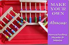 Make Your Own Abacus @ http://homeschoolheartandmind.blogspot.com