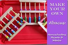 Wonderful math craft. Make Your Own Abacus