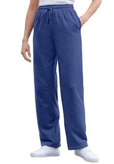 fc50b1b6d02 Woman Within Plus Size Tall Sweat Pants In Easy Fleece (Dark Navy