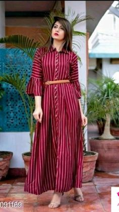 Stylish Dresses For Girls, Frocks For Girls, Stylish Dress Designs, Casual Dresses, Outfit Essentials, Frock Design, Maxi Dress With Sleeves, The Dress, Dress Skirt