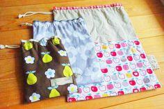 超簡単♪ミシンでも手縫いでも!裏地付き巾着袋の作り方!【保存版】 | 勝見美智子ブログ 実践的で丁寧な暮らし。
