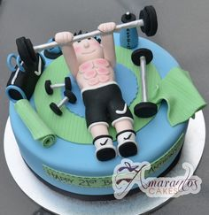 Gym Theme Cake- NC312 - Amarantos Cakes