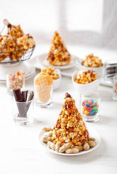 caramel popcorn and mixed nuts...