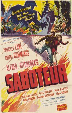 Saboteur 11x17 Movie Poster (1942)