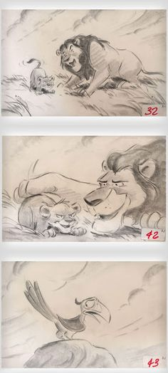 I choose this story board because it is easy to understand and view. I also love the lion king (my old dogs name was simba). I also like how the visually set it up and how the images are under each other and not side to side.