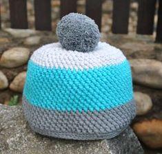 cepice-navod-krizene-sloupky Chrochet, Knit Crochet, Crochet Hats, Basket Bag, Baby Knitting, Free Pattern, Diy And Crafts, Crochet Patterns, Beanie
