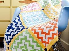 Shop Craftsy's premiere assortment of quilting supplies and save! Get the Chevron Squares Quilt Kit before it sells out. - via @Craftsy