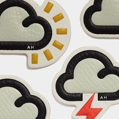 """""""Come rain or shine, brighten your day with #AnyaHindmarch @chaosfashiondotcom leather  #stickers anyahindmarch.com/weather #StickerSHOP"""""""
