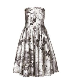Thom Browne Strapless Jacquard Dress For Spring-Summer 2017