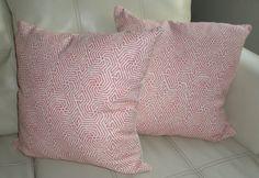 Quadrille / China Seas Pillow - Maze -Magenta on Tint