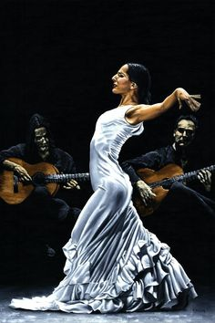 Flamenco Performance Concentration by Richard Young