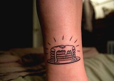 Stack of Pancakes Tattoo Design