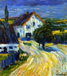 ۩۩ Painting the Town ۩۩ city, town, village & house art - Alexei Jawlendky | Houses in Wasserburg on the Inn