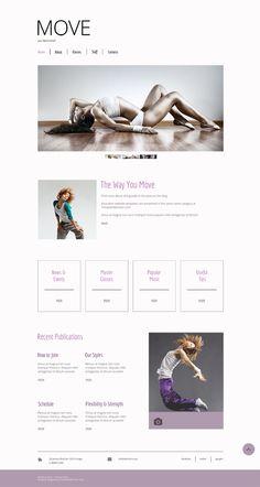 kostenloses #HTML5 #Tanzstudio-Template #Freebie