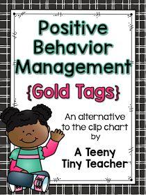 A Teeny Tiny Teacher: Positive Behavior Management {Gold Tags} Positive Behavior Management, Behavior Management System, Classroom Management, Class Management, Behavior Plans, Behavior Charts, Back To School Organization, This Is A Book, Hacks