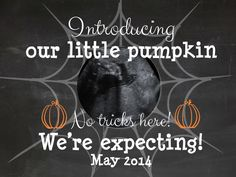 Digital Pregnancy Announcement via THE LifeStyled COMPANY! Halloween Ultrasound announcement, facebook pregnancy announcement