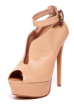 Elianna Peep Toe Ankle Strap Heel by Betsey Johnson on @HauteLook