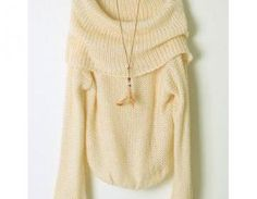 Strapless Boat Neck Sweater JCGCD