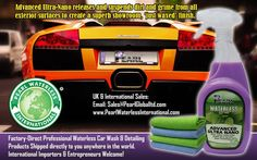 Pearl® Waterless 2-Wax Premium Car Wash  and Protection Solution.