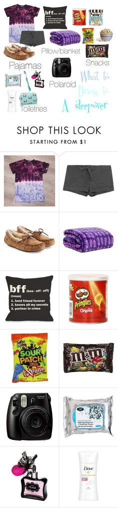 """""""What to bring to a sleepover!"""" by sydneefashion ❤ liked on Polyvore featuring Bodas, UGG Australia, Vera Bradley, One Bella Casa, Nestlé, Waring, Colgate, Victoria's Secret, Dove and Forever 21"""