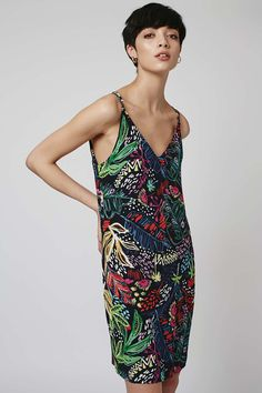 Jungle Print Slip Dress
